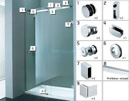 Shower Sliding Door Hardware 002 Frameless Bath Rooms Shower Sliding Doors Whole Set Cabin