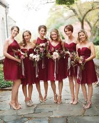 burgundy bridesmaid dresses burgundy bridesmaid dresses martha stewart weddings