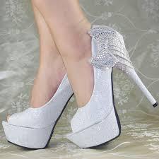 wedding shoes ebay royal bows platform high heels princess wedding bridal