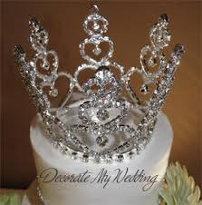 crown cake toppers decorate my wedding swarovski mini cake crown deanna