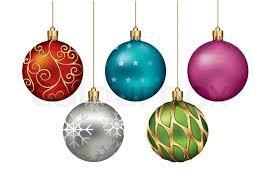 ornaments hanging on gold thread vector illustration