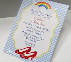 wizard of oz invitation wizard of oz invite over the