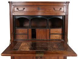 Cherry Wood Desk Antique French Louis Xvi Style Dark Cherrywood Secretaire A