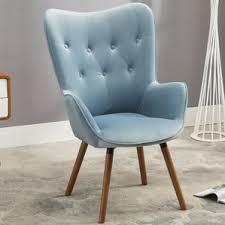 Button Back Armchair Blue Velvet Accent Chairs You U0027ll Love Wayfair
