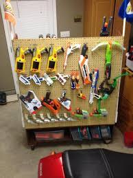 11 best nerf gun rack ideas images on Pinterest