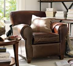 Pottery Barn Chair Covers Manhattan Leather Armchair Pottery Barn