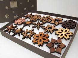 wood snowflake ornaments arts crafts and design finds