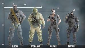 siege i size size comparison of some operators rainbow6