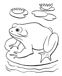 frog pond coloring kids drawing coloring pages marisa