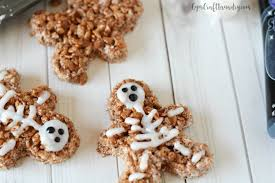 easy halloween party treats skeleton rice krispies gym craft