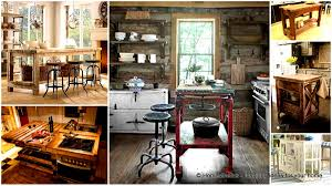 Rustic Kitchen Islands 32 Super Neat And Inexpensive Rustic Kitchen Islands To Materialize