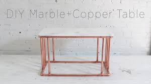 diy copper coffee table with a marble top youtube