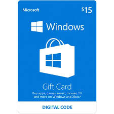 15 gift cards microsoft windows store gift card digital 15 digital code