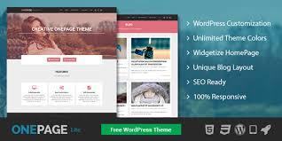 onepage lite free one page wordpress theme mythemeshop
