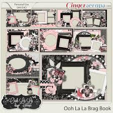 5x7 brag book gingerscraps pages and albums ooh la la 5x7 brag book