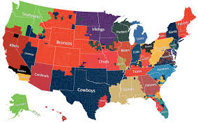 Colorado On The Us Map by U S Map Of Football Fan Dom It U0027s Nice To See That Not One Single