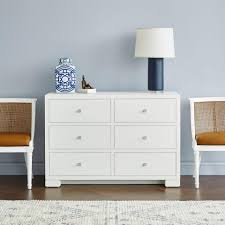 Bungalow 5 Nightstand Bungalow 5 Frances Extra Large 6 Drawer Chest White U2013 Clayton Gray
