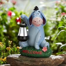 disney disney statue with solar lantern eeyore outdoor living