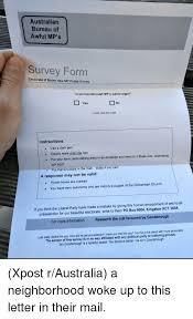 australian bureau australian bureau of awful mp s survey form electorate of