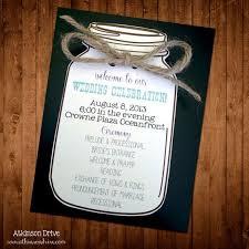 jar wedding programs custom jar wedding program wedding ideas
