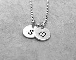 s necklace initial s necklace etsy
