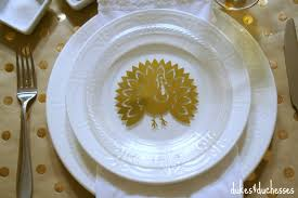 diy gold turkey plates dukes and duchesses