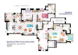 detailed floor plans artist draws detailed floor plans of famous tv shows bored panda