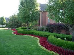 Ideas 4 You Front Lawn Landscaping Ideas To Hide Septic Lids Michigan Landscaping Red Ground Cover Around Tree In Front