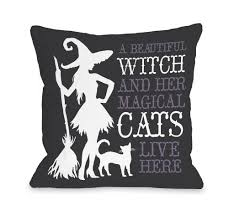 halloween pillows beautiful witch throw pillow