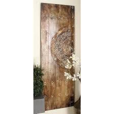 Wooden Door 59 In X 20 In Traditional Wooden Door Wall Panels 2 Pack 38503