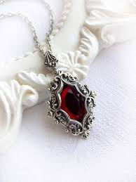 red gothic necklace images Gothic jewelry victorian necklace and red crystal image the jpg