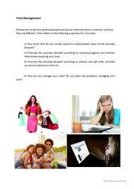 13 free esl management worksheets