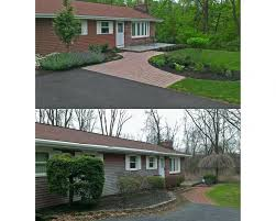 Front Of House Landscaping by Front Of House Landscape Renovation Landscaping Emmaus