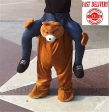 halloween carry me teddy bear piggy back ride on mascot costume