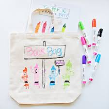 hello wonderful diy library book bag for kids featuring their