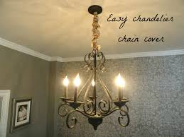 i can t say that i had even thought much about covering the chandelier chain before but that day it seemed like a great idea this is really easy