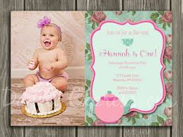 printable shabby chic tea party birthday invitation girls