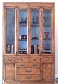 how to update and paint a hutch or bookcase