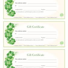 free gift certificate template template trakore document templates