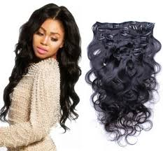 Hair Extension Clips by Unprocessed Brazilian Body Wave Clip In Human Hair Extensions 1b