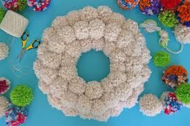 crochet halloween wreath how to make a yarn pom pom wreath for any occasion