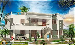 5 bedroom house elevation with floor plan kerala home design and