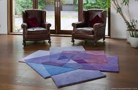 Modern Contemporary Rugs Area Rugs Contemporary Modern Purple Blue Abstract Square Pattern
