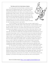 ancient rome reading comprehension worksheets