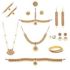 buy combo of bharatanatyam kuchipudi jewellery set with