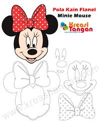tutorial gambar kepala doraemon pola kain flanel minnie mouse karakter minnie mouse ini adalah