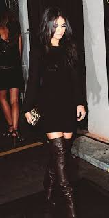 black dress with dark brown boots style pinterest dark brown