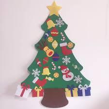 kids preschool craft diy felt christmas tree with ornaments