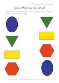 matching shapes to their names worksheets math aids com