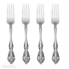 oneida michelangelo set of 4 dinner forks extra 30 off 3a code ff30